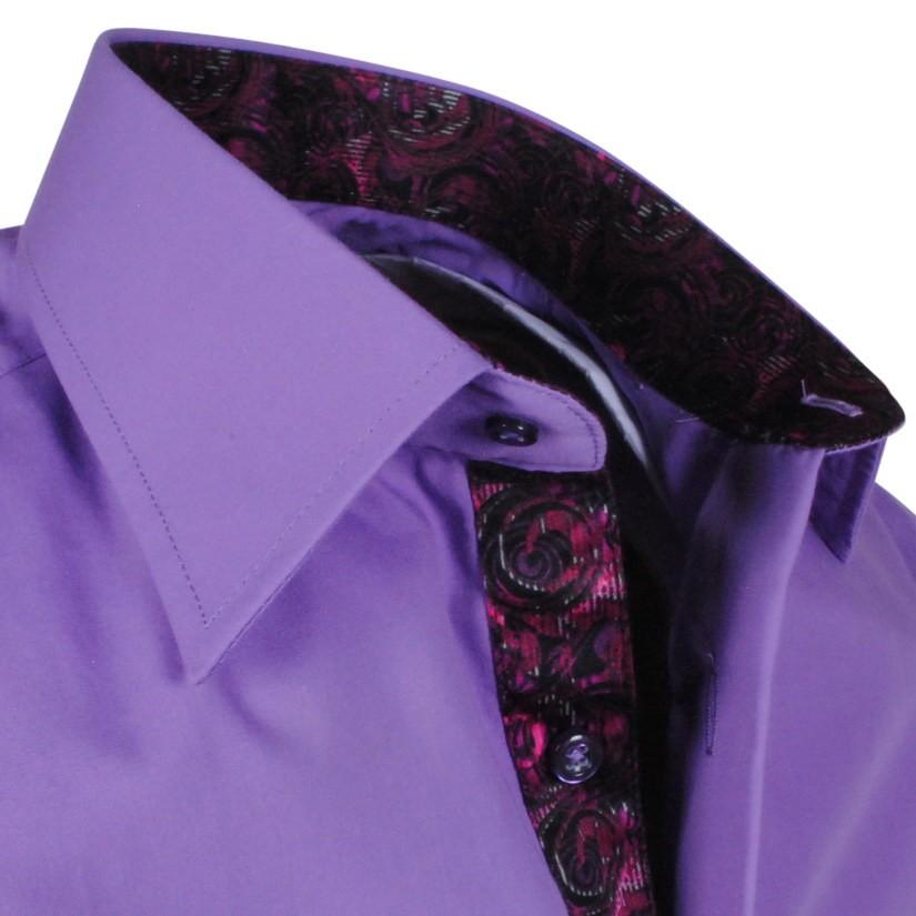 Paars Heren Overhemd.Mulino Kleding Voor Heren